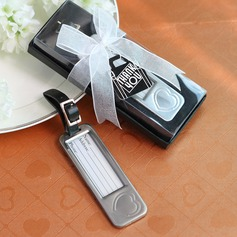 Rectangular Zinc Alloy Luggage Tags