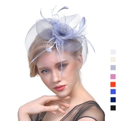 Ladies' Classic Cambric With Feather Fascinators/Tea Party Hats (196119281)