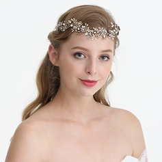 Ladies Beautiful Rhinestone/Alloy/Imitation Pearls Headbands With Rhinestone/Venetian Pearl (Sold in single piece)