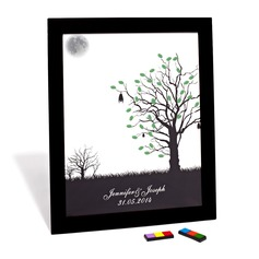 Personalized Peaceful Night Canvas Fingerprint Painting