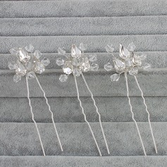 Ladies Stylish Rhinestone/Alloy Hairpins (Set of 3)