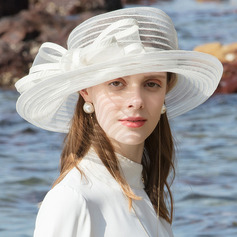 Ladies' Glamourous/Eye-catching Polyester Beach/Sun Hats/Tea Party Hats