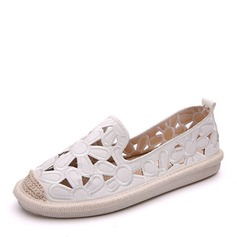 Women's Leatherette Flats Closed Toe With Hollow-out shoes