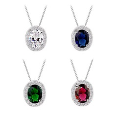 High Quality Zircon/Platinum Plated Necklaces