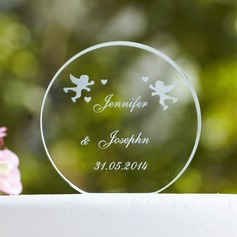 Personalized Round Crystal Cake Topper