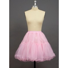 Women/Girls Organza/Polyester Short-length 2 Tiers Petticoats