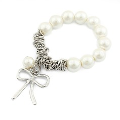 Exquisite Iron With Imitation Pearls Ladies' Bracelets