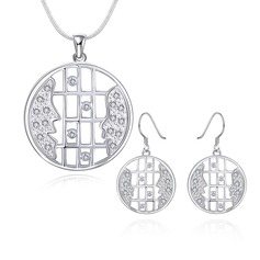 Exquisite Silver Plated Ladies' Jewelry Sets
