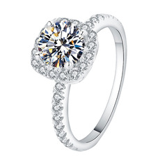 Vintage Round Cut Engagement Rings (303255882)