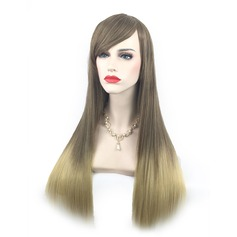 Ombre Color Long Side Part Straight Synthetic Wig