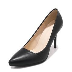 Women's PU Stiletto Heel Pumps Closed Toe shoes