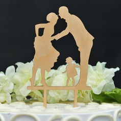 Classic/Happy Anniversary Wood Cake Topper