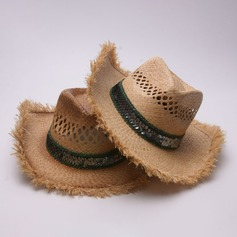 Men's Fashion/Elegant/Unique Raffia Straw Cowboy Hat