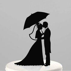 Figurine Bride And Groom Acrylic Wedding Cake Topper