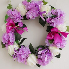 Silk flower summer wreath handmade festival centerpiece door lintel flower mirror flower
