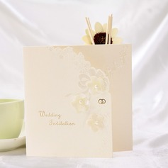 Floral Style Tri-Fold Invitation Cards