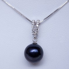"Gorgeous Pearl/925 silver and chain/""AA"" Pearl Women's Necklaces"