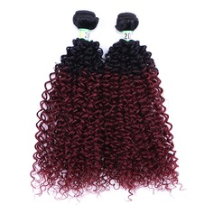 Curly Synthetic Hair Human Hair Weave (Sold in a single piece) 100g