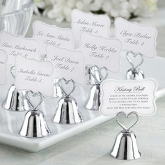 "Heart Topped ""Kissing Bell"" Metal Place Card Holders  (051024149)"