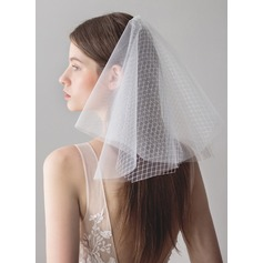 Two-tier Cut Edge Blusher Veils