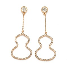 Gentil Alliage/Strass Dames Boucles d'oreilles