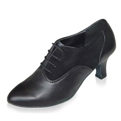 Women's Real Leather Heels Pumps Swing Dance Shoes