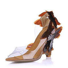 Women's PVC Wedge Heel Sandals Wedges With Flower shoes