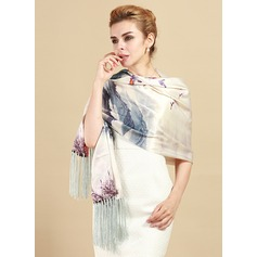 Floral Neck/Light Weight/simple Mulberry silk Scarf