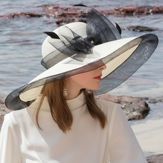 Ladies' Glamourous/Classic/Elegant/Simple/Nice Pp With Feather Beach/Sun Hats
