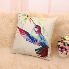 Ink Bird Linen Square Pillowcases (Sold in a single piece)
