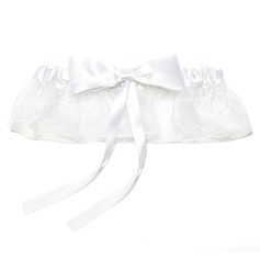 Marvelous Satin Organza Wedding Garters