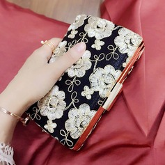 Elegant PU/Embroidery Clutches