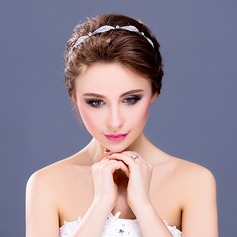 "Leaves Shaped Rhinestone/Alloy/""A"" Level Rhinestone Headbands"