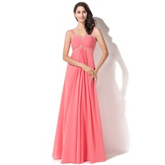 Empire Sweetheart Floor-Length Chiffon Prom Dress With Ruffle Beading Sequins