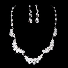 Shining Alloy With Crystal Women's Jewelry Sets