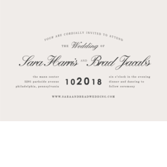 Minimalist Splendor Wedding Cards