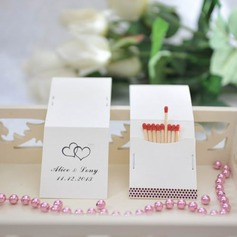 Personalized Double Hearts Hard Card Paper