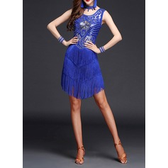 Women's Dancewear Spandex Lace Latin Dance Dresses (115112633)