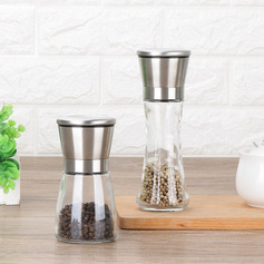 Classic Stainless steel Glass Pepper Grinder