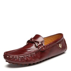 Men's Real Leather U-Tip Casual Men's Loafers (260172131)