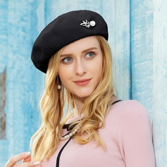 Ladies' Elegant Polyester With Rhinestone/Pearl Beret Hats