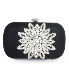 Elegant Silk With Glitter/Rhinestone Clutches