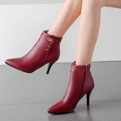 Women's PU Stiletto Heel Pumps Boots أحذية