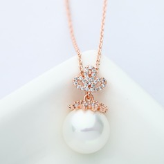Classic Copper/Zircon Ladies' Necklaces