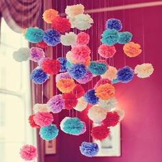 5pcs/set - 4inch Tissue Pom Pom Flower Wedding Party Decoration (set of 5)