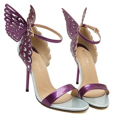 Women's Leatherette Stiletto Heel Pumps Peep Toe With Bowknot shoes