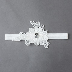 Floral Elastics Lace With Rhinestones Wedding Garters(More Colors)