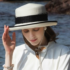 Ladies' Glamourous/Classic/Elegant/Simple/Nice Pp With Imitation Pearls Beach/Sun Hats