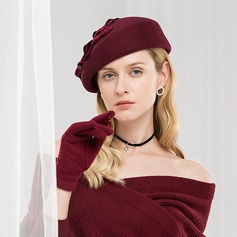 Ladies' Glamourous/Classic/Simple/Vintage/Artistic Wool With Imitation Pearls Beret Hat