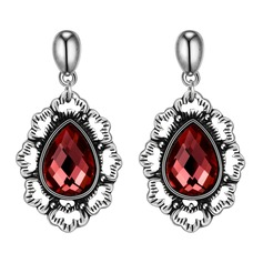 Classic Czech Stones/Silver Plated/Tin Alloy Ladies' Earrings